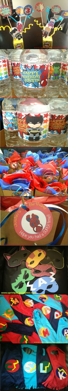 Check out this #superhero party by U Print Party Supplies.. Find out about all the party decorations and what went inside the loot bags for all our superhero friends!! #ymcread