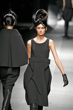Hiroko Koshino, 2008, is a Japanese fashion designer whose work grew to acclaim in the 1980s. Her style has often integrated Japanese culture and the combination of classic Japanese designs and Western culture in the modern Japanese fashion industry.