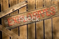 Explosive Sign Royalty Free Stock Photo