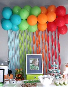 DIY Deko Ideen mit Luftballons – DIY Fasching-Partydeko Ideen Source by pichlervali Monster 1st Birthdays, Monster Birthday Parties, Monster Party, Monster First Birthday, Cookie Monster, Baby First Birthday, First Birthday Parties, Birthday Party Themes, Birthday Backdrop