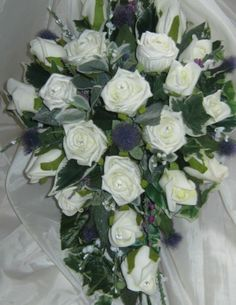 Scottish Wedding Bouquet - Roses,Thistle,Heathers - Posies, Buttonholes,Corsage | eBay