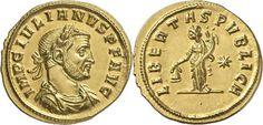 Imperial Rome AV Aureus ND Siscia Mint struck 284/85AD Julian I of Pannonia