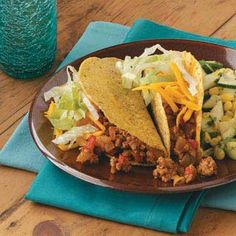 Three-Chili Turkey Tacos Recipe from Taste of Home -- shared by Cathy Tang of Redmond, Washington