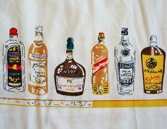 vintage liquor bottles