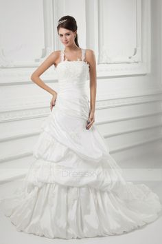 Popular Ball Gown Beading Taffeta Wedding Dresses