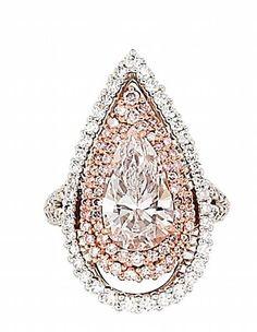 A coloured diamond and diamond ring - pendant - Bonhams