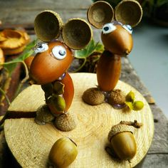 Crab Crafts, Acorn Crafts, Pine Cone Crafts, Easy Halloween Crafts, Diy Crafts For Kids, Crafts To Sell, Autumn Crafts, Nature Crafts, Natural Christmas