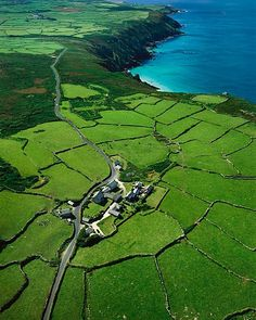 Cornwall - these ancient field patterns may be several thousand years old and are still in use..