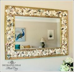 SeaShell Mirror ---- Hosta's Notes --- I've done this project before!