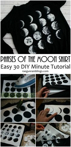 DIY Phases of the Moon Shirt Tutorial