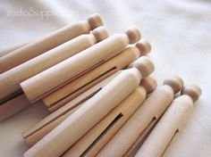 30 Wood Round Clothespins by studio8supplies on Etsy, $6.95