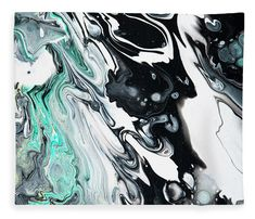 Fluid Acrylic In Tropical Jungles 2 Fleece Blanket x by Jenny Rainbow. Our luxuriously soft throw blankets are available in two different sizes and feature incredible artwork on the top surface. The bottom surface is white. Blankets For Sale, Throw Blankets, Artwork For Home, Jungles, Fluid Acrylics, Abstract Pattern, Fine Art Photography, Light Colors