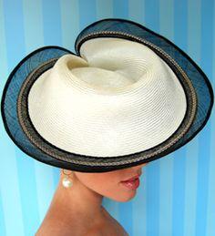 Fashion hat Cream Encore, designed by Melbourne milliner Louise Macdonald