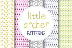 Little Archer Patterns by Morgana Lamson on Creative Market