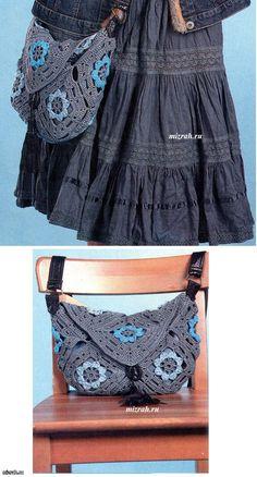 Crochet Granny Bag - Chart ❥ 4U // hf