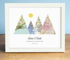 This sweet print makes the perfect unique gift. Choose ANY four cities in the world! We have a vast resource of maps to use, so even small towns are no problem most of the time. This listing is for an UNMATTED unframed or framed print (if framed it will be flush with the art as shown in