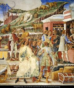 The Triumph of Mercury: June, from the Room of the Months, c.1467-70 - Francesco Del Cossa