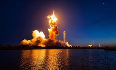 NASA just released close-up photos of the cataclysmic Antares rocket explosion and they're eerily beautiful.  On Oct. 28 2014 the Aerospace manufacturer company Orbital ATK was scheduled to transport 5000 pounds of cargo inside of an unmanned Cygnus spacecraft to the International Space Station. Cygnus was strapped to an Antares rocket that exploded 15 seconds after lift off from a launch pad in Virginia.  Later investigations revealed that the failure began with the rocket's two AJ26…
