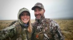 Couples who hunt together, stay together! Great shot of these love birds! Prois Staffer, Cindi Baudhuin & husband, Brandon Baudhuin. #prois www.proishunting.com