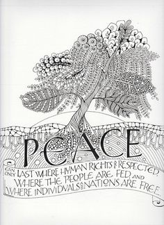 peace tree | long village lettering via Flickr - http://www.flickr.com/photos/clangsdorf/5886519338/