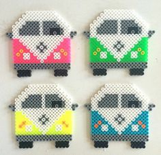 Items similar to 2 UNITS VW van rainbow wall. Handmade. Perler beads on Etsy