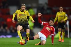HT: #mufc 0 Watford 0. Schneiderlin went close and De Gea made some key saves but it's goalless at the break