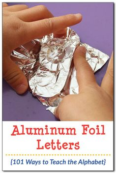 Aluminum foil letters: A tactile fine motor activity that helps kids learn the shapes of letters {101 ways to teach the alphabet} || Gift of Curiosity