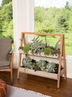 Terra A-Frame House Plant Shelf Indoor | Gardeners.com #indoorgardening #Interiorgarden