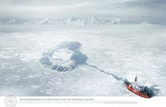 25 Creative Advertisements to Fight Global Warming Creative Advertising, Advertising Design, Green Marketing, Boat Art, Open Your Eyes, Global Warming, Go Green, This Is Us, Around The Worlds