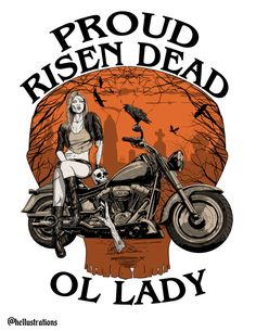 Commission artwork for Risen Dead MC. This Zombie Lady illustration was created for a motorcycle club merchandise. Motorcycle Clubs, Fantasy Illustration, Gothic Art, Porsche Logo, Pin Up, Etsy Seller, Sci Fi, Lady, Creative