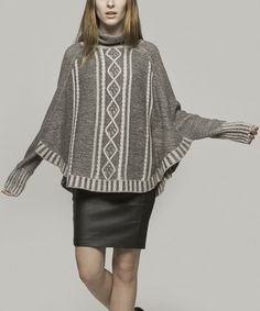 Another great find on #zulily! Gray Riley Wool-Blend Cape-Sleeve Top - Women by Yoon #zulilyfinds