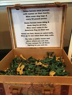 Military send off party favors