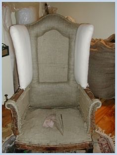 Traditional Upholstery Techniques - before