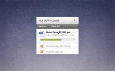 Minimal Download Widget & Progress Bar PSD - http://www.welovesolo.com/minimal-download-widget-progress-bar-psd/