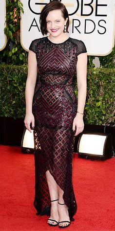 Elisabeth Moss - 2014 Golden Globes: Red Carpet Arrivals - Golden Globes 2014 - Celebrity - InStyle