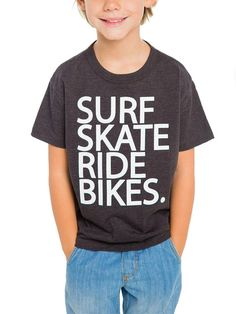 Surf Skate Ride Bikes Tee