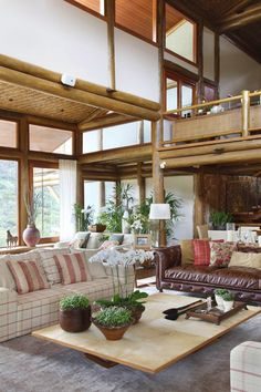 sweet home (Foto: MCa estúdio) Modern Tropical House, Tropical Houses, Brazil Houses, Hut House, Home Budget, Piece A Vivre, Cottage Interiors, House Goals, Farmhouse Design