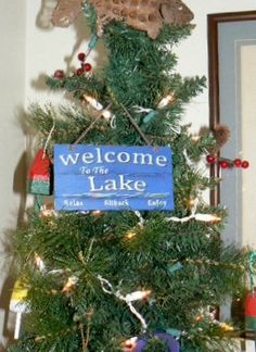 Decided to keep the tree up and make it a lake tree with fishing lures, adirondeck chairs, buoy ornaments, etc.