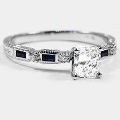 Sapphire and Diamond Ring   Brilliant Earth