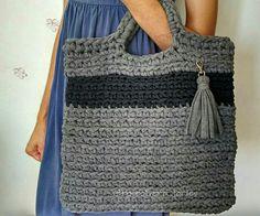 Tecendo Artes em Crochet: Bolsa Casual em Fio de Malha com Dicas!