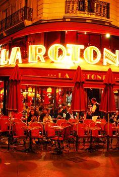 Café de La Rotonde. A VERY famous parisian coffee since the twenties, located  Boulevard du Montparnasse.