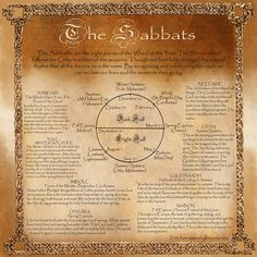 Book of Shadows, Wheel of the Year