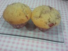 Muffins de chocolate blanco y fresas   Cocina