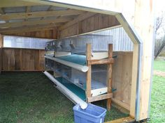 New Rabbit Shelter (Pics) - Homesteading Today - i like the system.. would make it easy to move into a garden