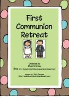 A retreat day for your class or your own children that combines church vocabulary, knowledge about the mass, a Bible story play, matching game, bin. Catholic Religious Education, Catholic Kids, Catholic School, Ccd Activities, Sunday School Activities, Teaching Religion, Walk In, Catechist, Eucharist