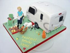 Caravan In France Was given a photo of the van and people to copy! Brief was a cake of the van, he is a retired mechanic who follows...