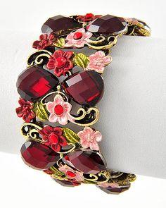 Vintage Flower Cuff