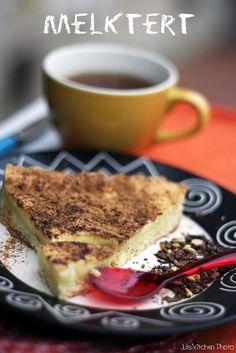 Melktert - Milk Tart from South Africa - Juls' Kitchen Custard Recipes, Baking Recipes, Oven Recipes, Tart Recipes, Recipies, Melktert Recipe, Salted Caramel Fudge, Salted Caramels, Milk Tart