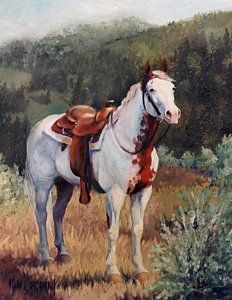 Painting - Sophie Flinders Paint Mare Horse Portrait Painting by Kim Corpany