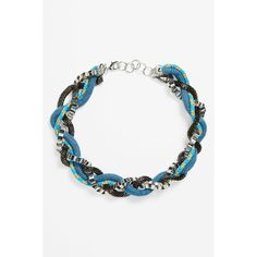 ADIA KIBUR 'Friendship' Braided Statement Necklace (515 MXN) ❤ liked on Polyvore featuring jewelry, necklaces, woven necklace, bib statement necklace, strand necklace, metal necklace and snake statement necklace